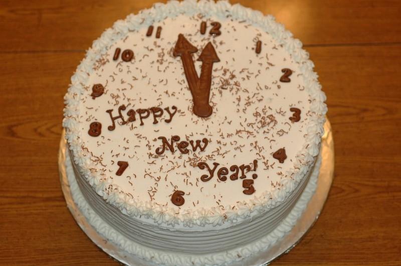 Украшения торта на новый год