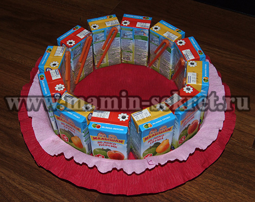 торт из сока и конфет мастер класс
